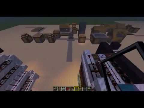 #Minecraft 16 shot cannon with single / continuous fire
