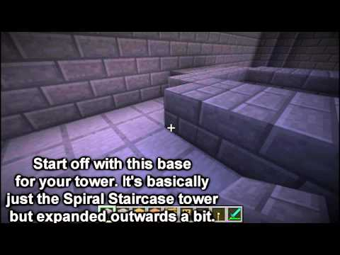 Minecraft - How to Construct a Castle - part 5: Castle Interior and Tower (Builder's Book)