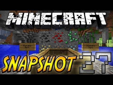 Minecraft: Snapshot 12w27a - Less XP From Ores, Stackable Signs, Breakable Boats, and More!