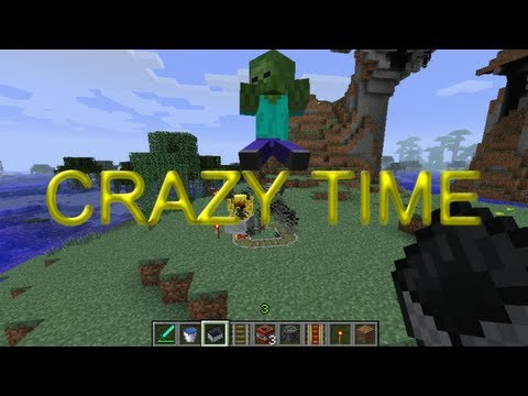 Crazy Time - Episode 3 - Launching Minecarts from TNT cannons