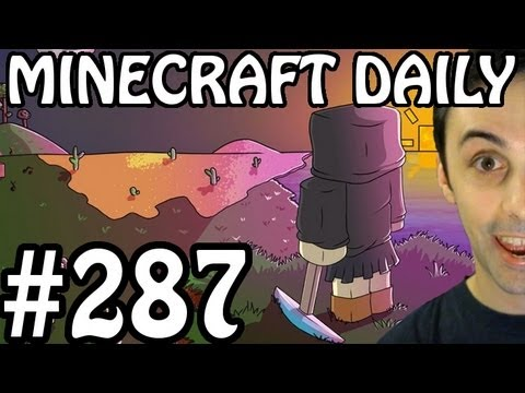 Minecraft Daily 17/07/12 (287) - Enderman Battle! Quest for Food! Squidman!