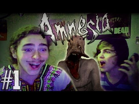 Gaming with Friends: Amnesia w/ Austin Part 1 - FACECAM!