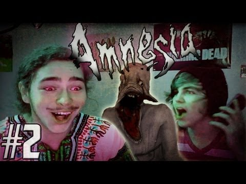 Gaming with Friends: Amnesia w/ Austin Part 2 - Yeah... We're Scared.