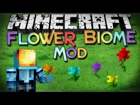 Minecraft Mod Showcase: Flower Biome Mod - New Flowers!