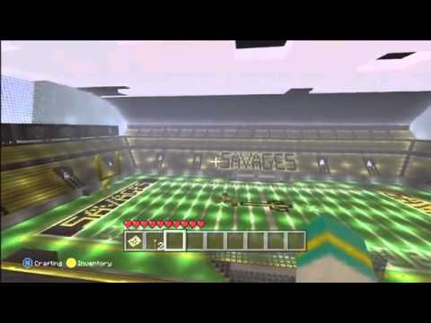 #Minecraft HUGE Football Stadium build [XBOX 360]