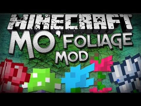Minecraft Mod Showcase: Mo' Foliage Mod - More Plants!