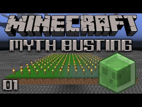 Minecraft Myth Busting 01 Can Slimes Spawn On Torches?