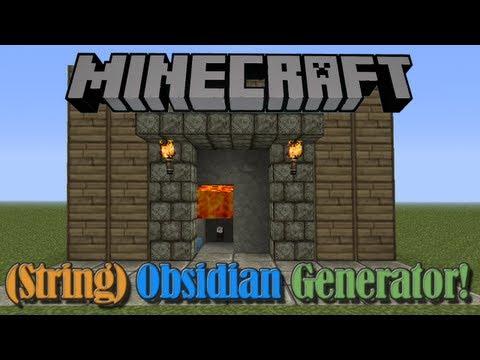String Obsidian Generator (Not Redstone)