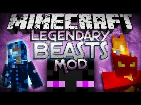 Minecraft Mod Showcase: Legendary Beasts Mod - 4 New Bosses!