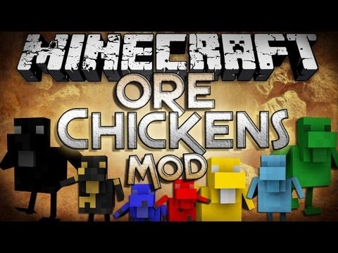 Minecraft Mod Showcase: Ore Chickens Mod - Chickens That Drop Ores!