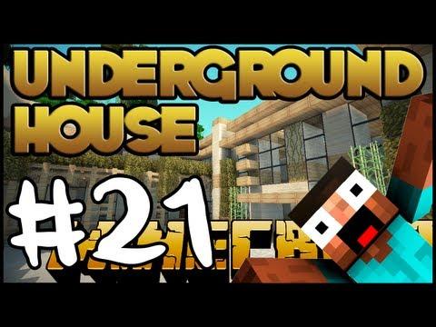 Minecraft Lets Build HD: Underground House - Part 21