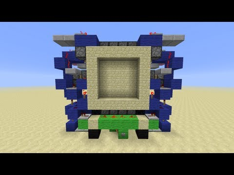 CNB's Supercharged Compact 4x4 Piston Door [Minecraft Redstone Tutorial] *She's 3 Wide!