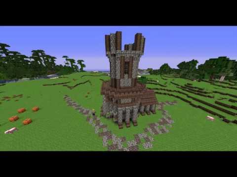 Minecraft Medieval Windmill Timelapse